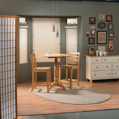 2 1 2 northern heights shutter style wood blinds for Alternative to plantation shutters