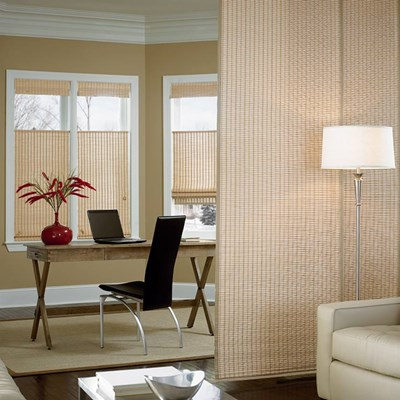 Sliding Panel Woven Wood Blinds Ca