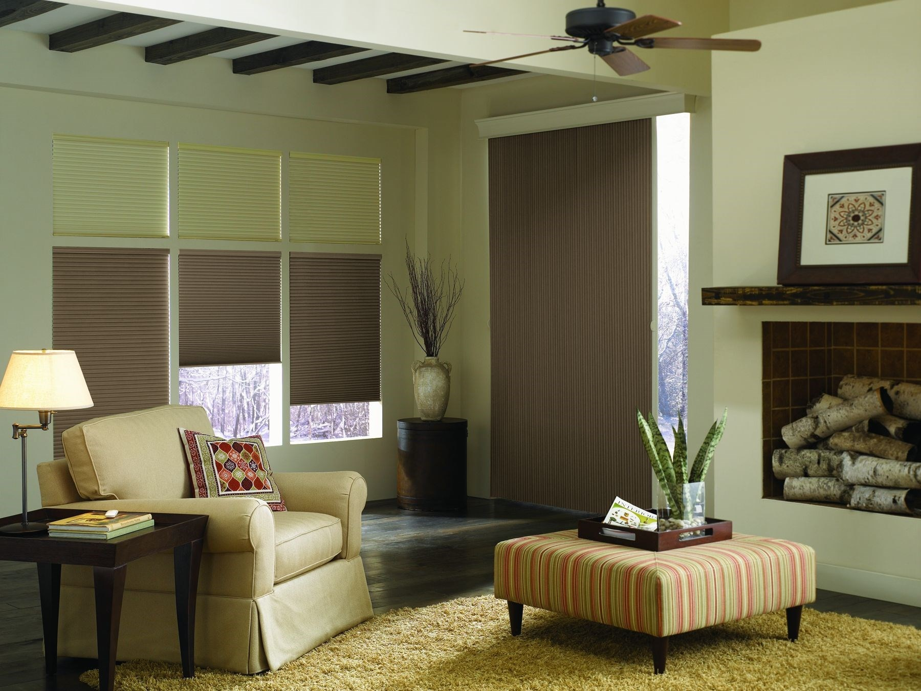 Blackout Vertical Cellular Shade